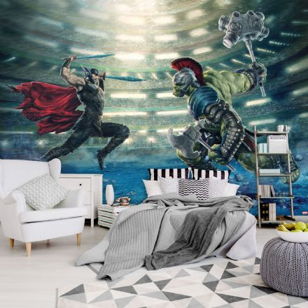Thor Ragnarog - fighting Hulk wall mural wallpaper